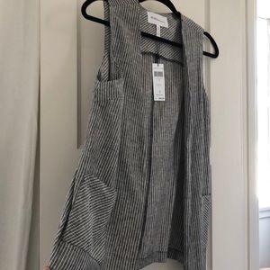 NWT BCBGeneration Sleeveless striped vest